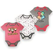 Happy Thread Baby Boys Newborn Infant 3 Pack Bodysuit Onesie Red-White-Grey 6-9 Months
