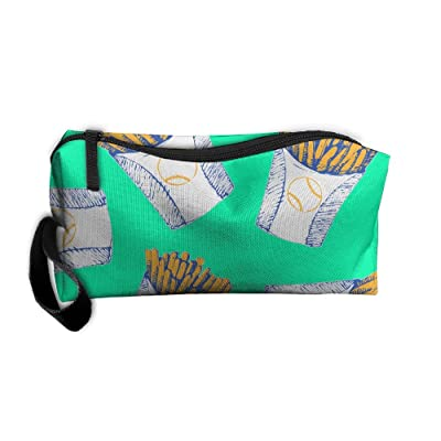 ORAGNIZERS UIY Tennis-chips Portable Travel&Home Bags Printed Toiletry Hand Bags With Zipper