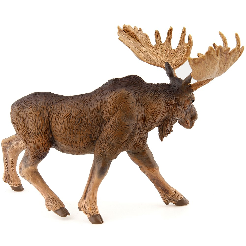 amazon com papo standing north american moose toy figure toys