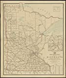 Historic Map | 1897 Post route map of the state of Minnesota showing post offices with the intermediate distances and mail routes in operation on the 1st. of December, 1897 | Vintage Reproduction