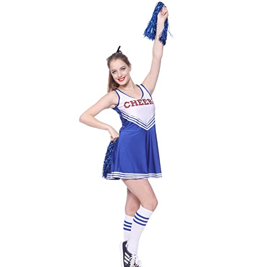 81fd15feaf6 VARSITY COLLEGE SPORTS CHEERLEADER UNIFORM COSTUME OUTFIT Blue S us 2 4