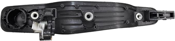 Passenger Side Rear Exterior Outer Outside Door Handle PT Auto Warehouse MI-3252P-RR Primed Black