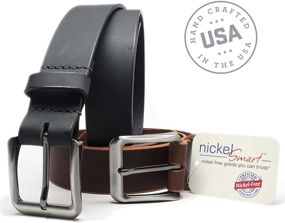 Nickel Smart Appalachian Mountains Belt Set Black//Brown Leather Belts