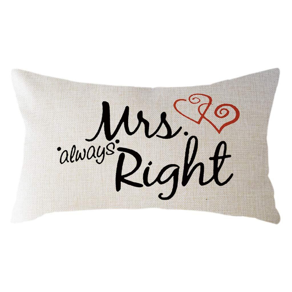 Minimalist Valentine's Day Pillow Case Linen 30x50cm Cushion Cover Home Decor