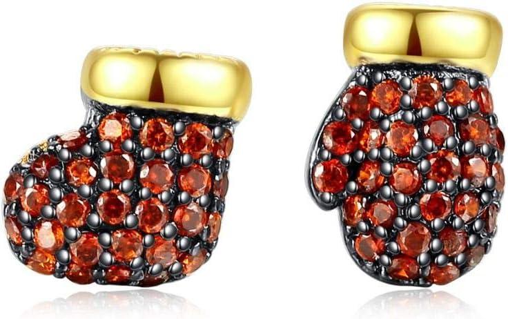ZHWM Aretes Pendientes De clip Aros Exquisitos Pendientes De Diseño para Mujer Que Datan De Cz Stone Botines En Forma De Botín Brincos Chritmas Asimétricos