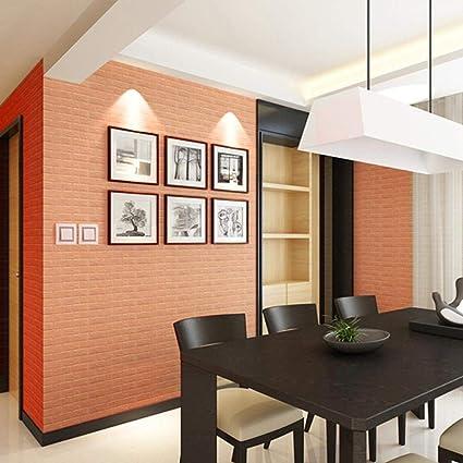 Wall Sticker Art Home Decor Usstore 1PC PE Foam 3D Wallpaper DIY Embossed Brick
