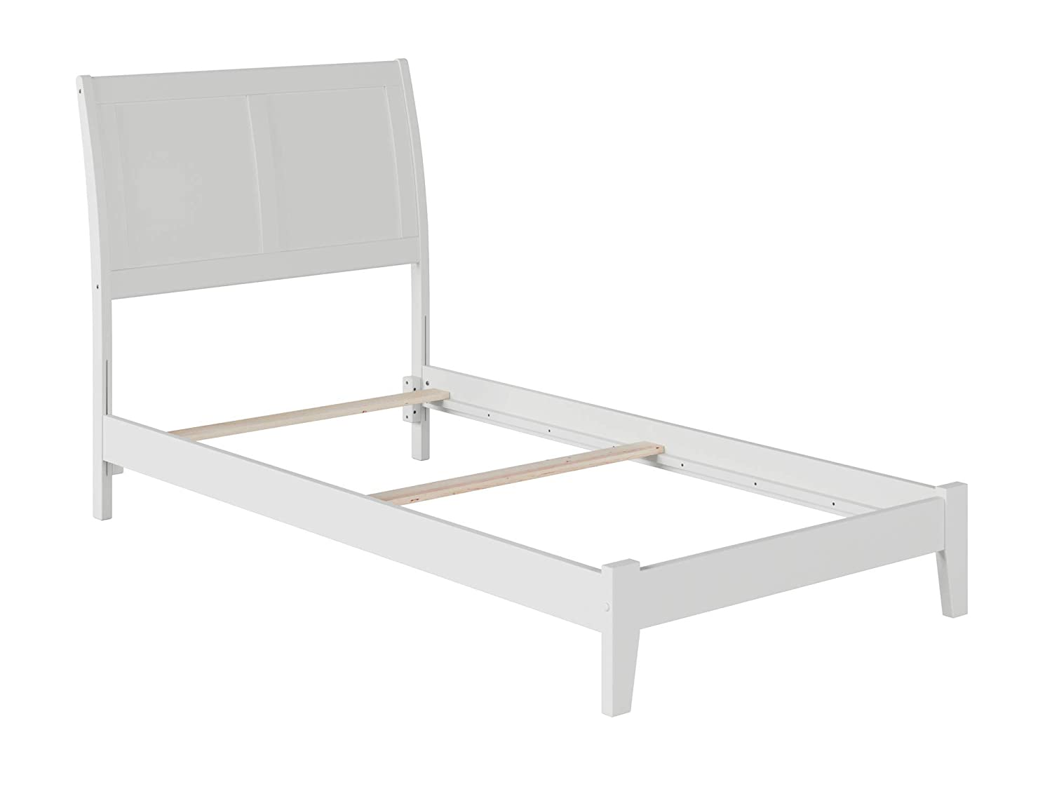 Atlantic Furniture Portland Traditional Bed, Twin, White