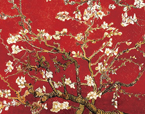 Almond Blossom in Red by Vincent Van Gogh - Art Print / Poster 11x14 inches 11 X 14 Van