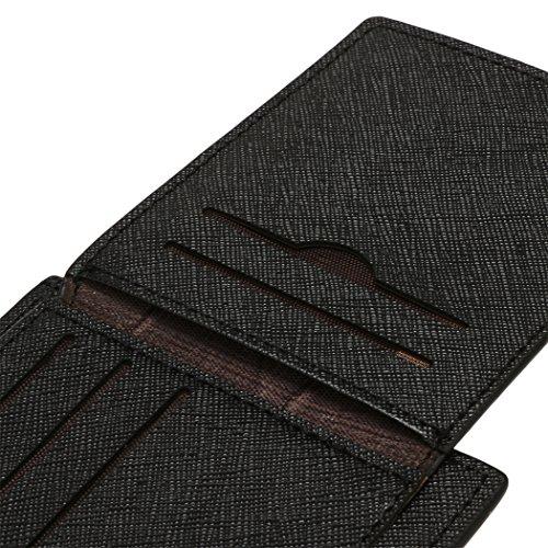 Geldbörse = All4you synthetisches Leder Wallet Money Tasche Kredit Karte Billfold für Männer