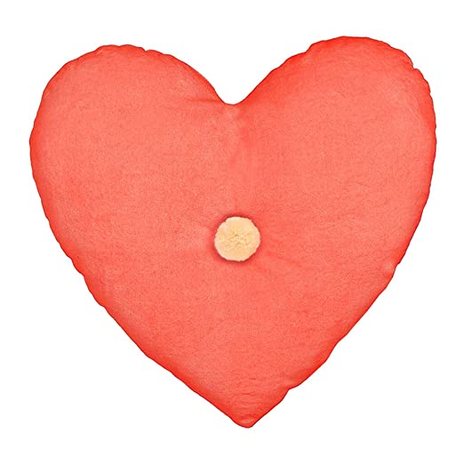 Corazón de Terciopelo Cojín Coral rosa: Amazon.es: Hogar