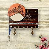 Unravel India Sheesham & MDF Wood Handpainted key holder