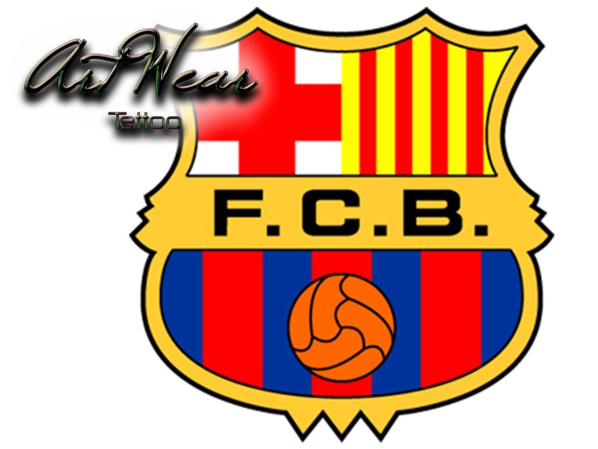 Tatuaje Temporal Equipe fútbol - FC Barcelona - España artwear ...