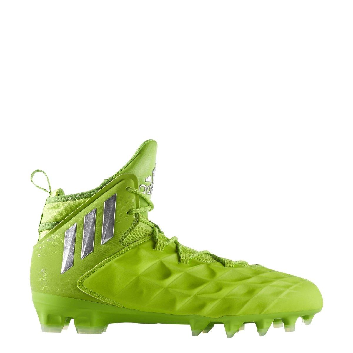 adidas Freak Lax Mid Shoe Men's Lacrosse 7.5 Solar Slime-Silver-Semi Solar Green by adidas