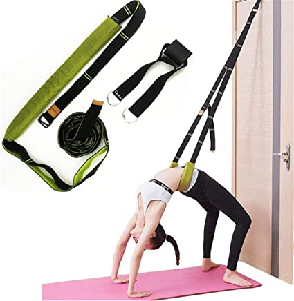 Xemz Yoga Fitness Stretching Strap Adjustable Leg Stretcher Back Bend Assist Trainer Improve Leg Waist Back Flexibility Home Gym Equipment for Rehab Pilates Ballet Cheerleading Splits Gymnastics