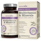 NatureWise Prenatal Wholefood Multivitamin for Women - Vitamins and Minerals with Organic Whole Foods and Probiotics, Folate and Vegetarian DHA, Iron, Calcium, and Vitamin D3, Gluten Free, 60 ct - 61dHZT2St1L - NatureWise Prenatal Wholefood Multivitamin for Women – Vitamins and Minerals with Organic Whole Foods and Probiotics, Folate and Vegetarian DHA, Iron, Calcium, and Vitamin D3, Gluten Free, 60 ct