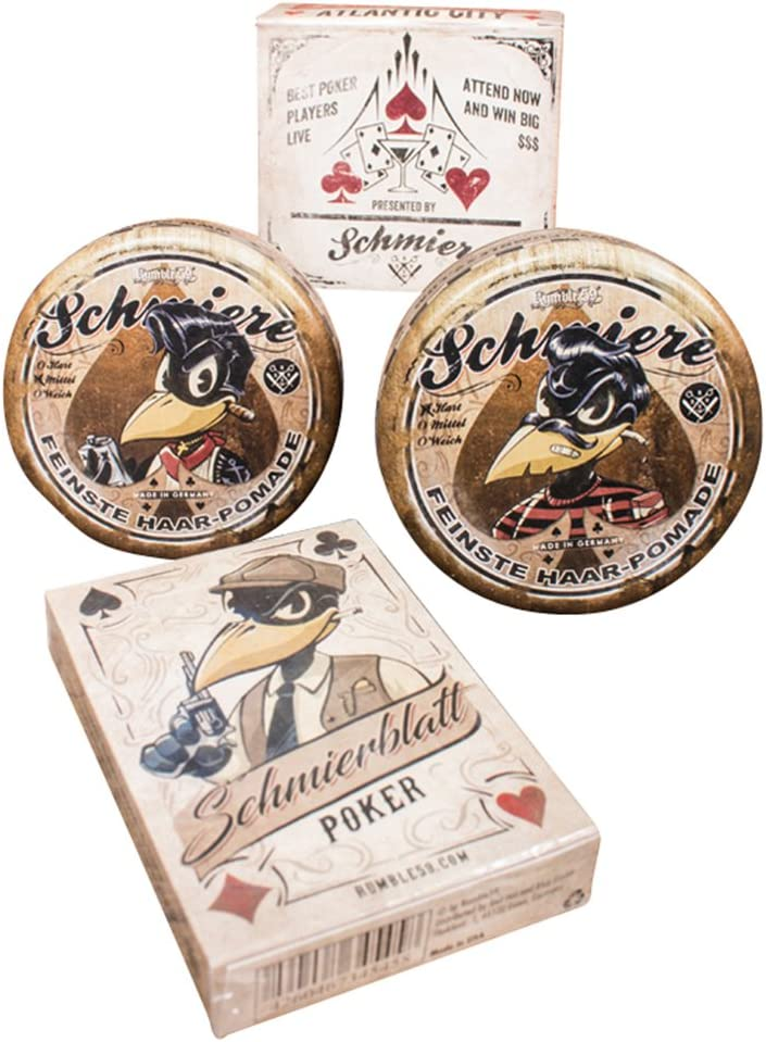 schmiere – Juego de 2 pomade + Poker hojas # medio + rígida – pomade from Rum ble59