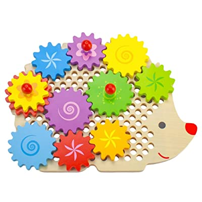 Imagination Generation Wooden Wonders Gizmo The Hedgecog Gear Puzzle: Toys & Games