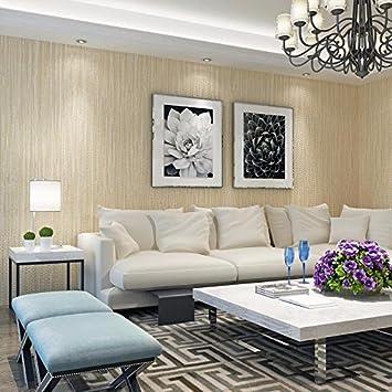 HUANGYAHUI Einfache Farbe Braun Bettwäsche Imitation Stroh Wallpaper  Schlafzimmer Wohnzimmer Hintergrund Clothing Store Beauty Salon Health