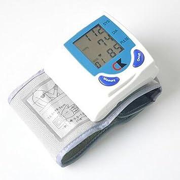 CK-101 Tensiómetro de Muñeca Automático, Prueba de frecuencia cardíaca para uso en el hogar: Amazon.es: Deportes y aire libre