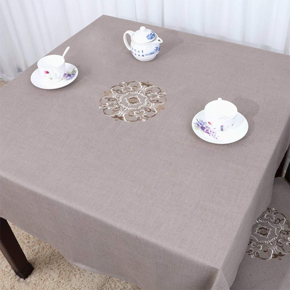 Shuangdeng 田舎のテーブルクロスファブリックTableclothTeaテーブルクロスデスクデスククロス (Color : D, サイズ : 90x150cm(35x59inch))   B07S687BKK