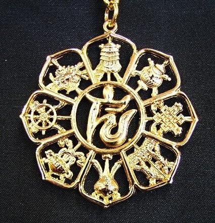 Feng Shui Lo Shu 9 Amulet, 8 auspicious objects Talisman