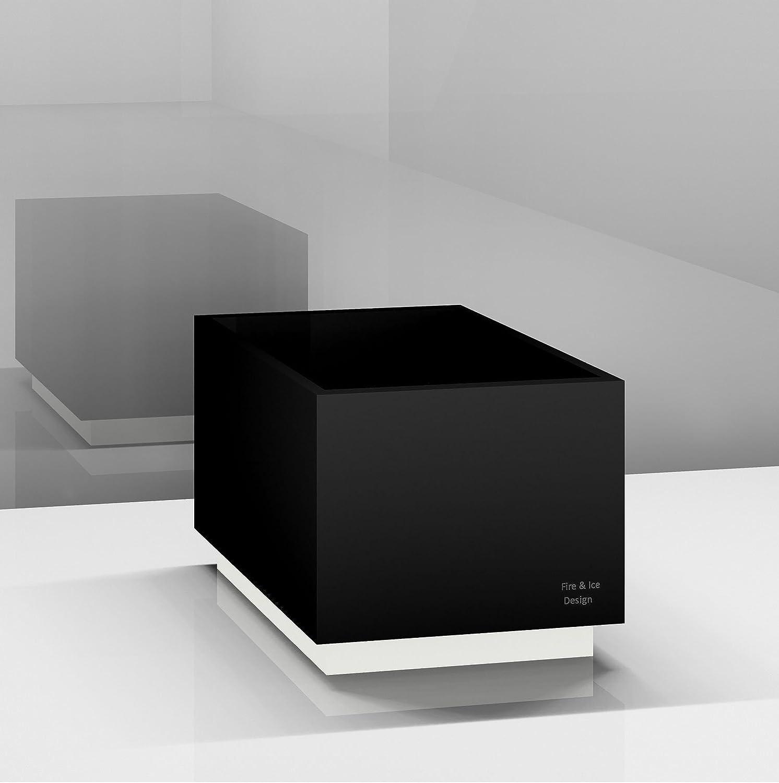 Soporte Platillos, cuadrado de mineral de plástico, 40 x 40 x 35 cm, estructura: Negro, Casquillo: Blanco: Amazon.es: Bricolaje y herramientas