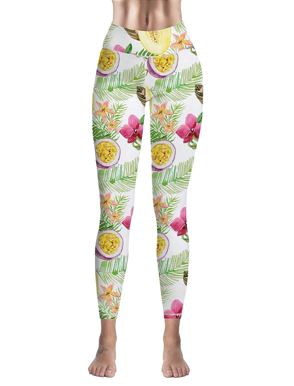 Custom Leggings Women High Waist Soft Yoga Workout Stretch Printed Cantaloupe Stretchy Capris Pants