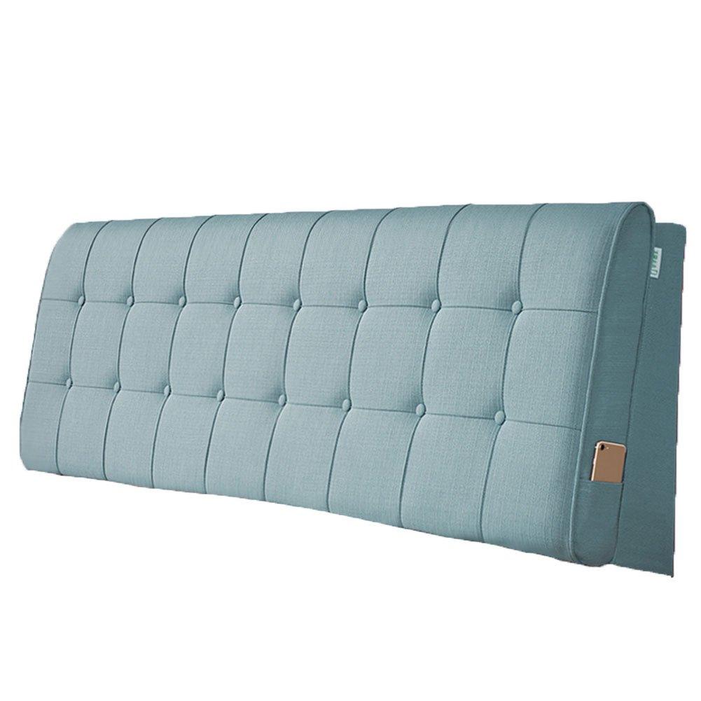 LIANGLIANG クッションベッドの背もたれ ダブルサイズの人は余分な通気性と汗を吸収する綿、5サイズ13色 (色 : シアン, サイズ さいず : 90x60x10cm) B07FRPW4QN 90x60x10cm|シアン シアン 90x60x10cm