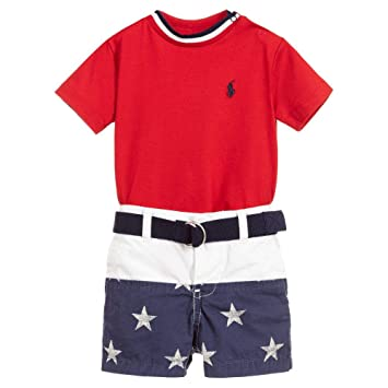 61298479373b1 Image Unavailable. Image not available for. Color  Ralph Lauren Polo Baby  Boys Cotton Shirt   Shorts Set ...
