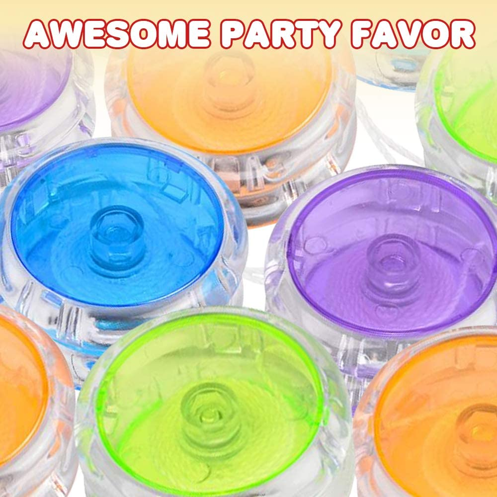 Plastic Yo-Yo Toys in Assorted Colors Fun Birthday Party Favors Goodie Bag Fillers Pack of 12 Holiday Stocking Stuffers ArtCreativity Color Tinted Crystal Yoyos for Kids Classroom Prizes