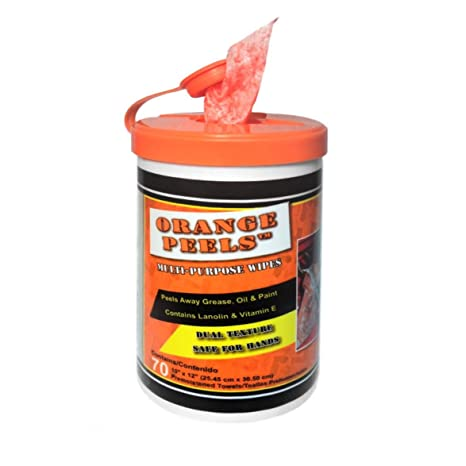 Pela naranja multiusos Toallitas prehumedecidas, 6 latas por caso, 17,2 Céntimos por