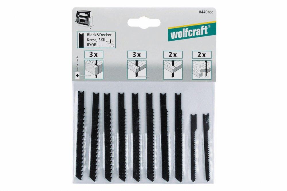 Wolfcraft 8440000 10 Lames de Scie Sauteuse Queue en U