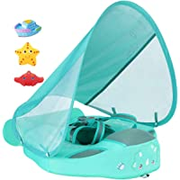 Added Tail Never Flip Over Size Improved UPF 50+ Mambobaby Non Inflatable Baby Float Swim Trainer Infant Pool Float with…