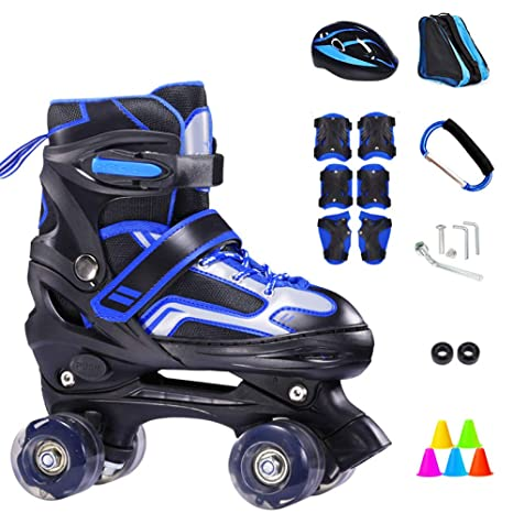 WANG L Roller Skate Regolabile Doppia Fila Rollerblades 4