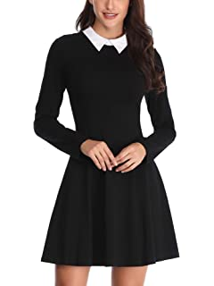 2878527f9f HOMEYEE Women s Doll Collar Wear to Work Swing A-Line Party Casual ...