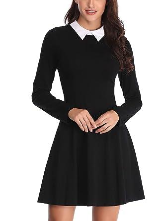 8acaf8ac902 FENSACE Womens Peter Pan Collar Long Sleeve Halloween Dress at ...