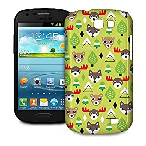Phone Case For Samsung Galaxy Express - Christmas Forest Animals Hard Wrap-Around