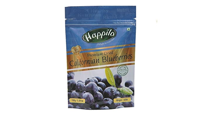 Happilo�Premium Dried Californian Blueberries, 150g (Pack of 2)