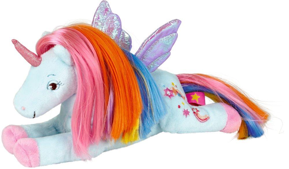 Die Spiegelburg 14666, peluche unicorno arcobaleno - bambini - il paradiso degli Unicorni - ca 22 cm