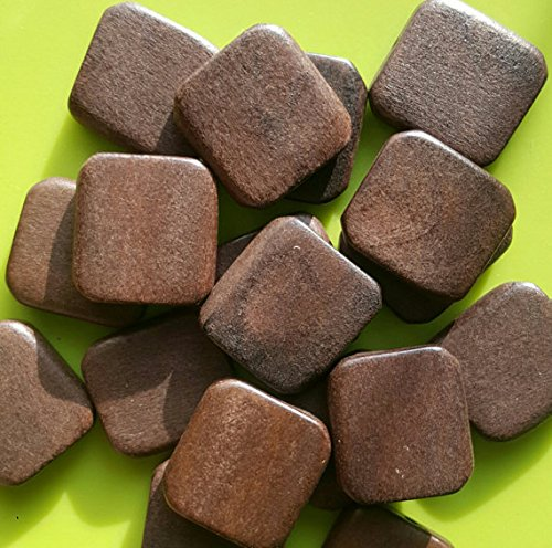 - 54 pcs Square Wooden Bead Unfinished Natural Wood Bead Square Shaped -14mm x 14mm 4mm thick