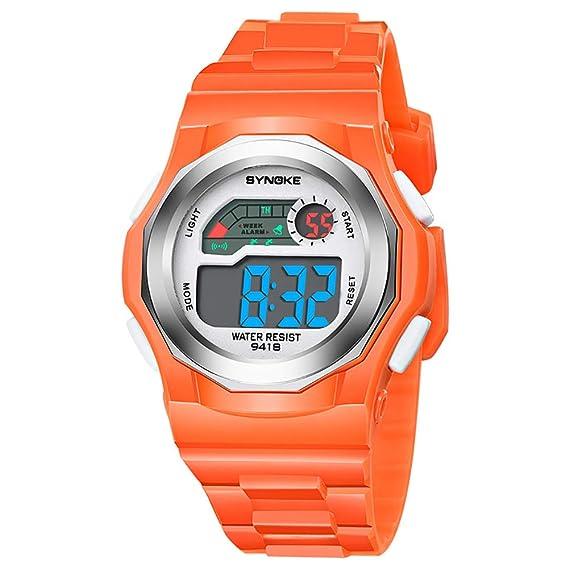 Reloj de Pulsera Digital para niños y niñas, Deportivo, para niños y niñas, con Movimiento electrónico Que Brilla en la Oscuridad: Amazon.es: Relojes