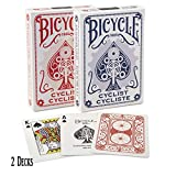 Bicycle Playing Cards Cyclist Playing Cards 2 pack Red and Blue