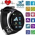 Smartwatch Hombres, Pulsera Inteligente Impermeable IP67, Reloj Inteligente Hombre Mujer con Pulsómetro, Pantalla Color de 1.3 Pulgadas, Smartwatch para Android iOS Teléfono