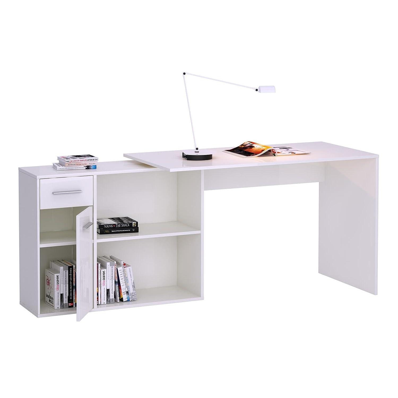 Liebenswert Regal Schreibtisch Foto Von Caro-möbel Eckschreibtisch Putertisch In Weiß, Mit Regal,