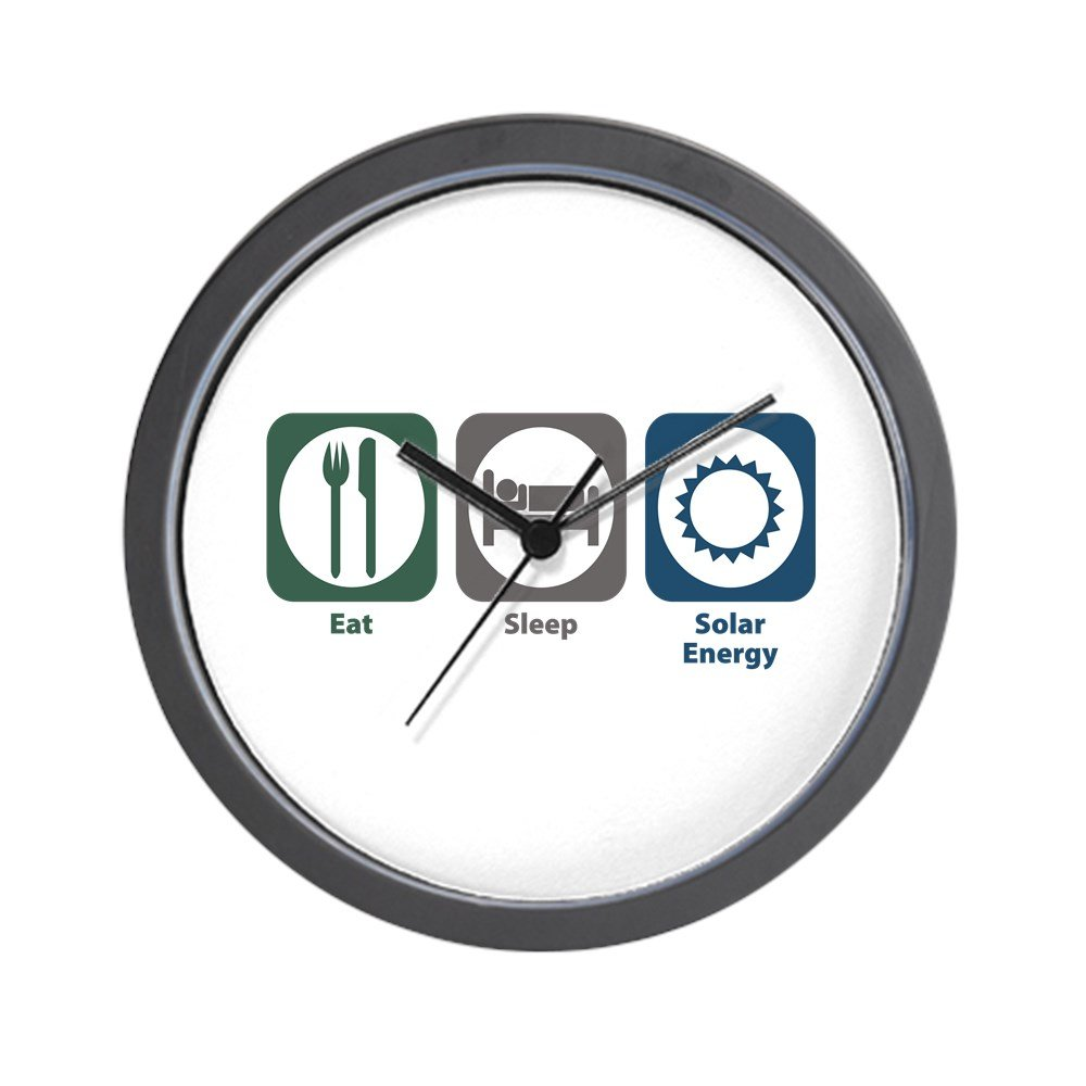 CafePress - Eat Sleep Solar Energy Wall Clock - Unique Decorative 10'' Wall Clock