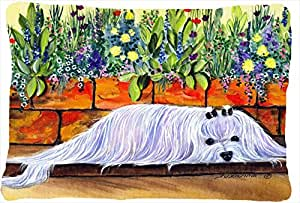 Maltés decorativo tela almohada