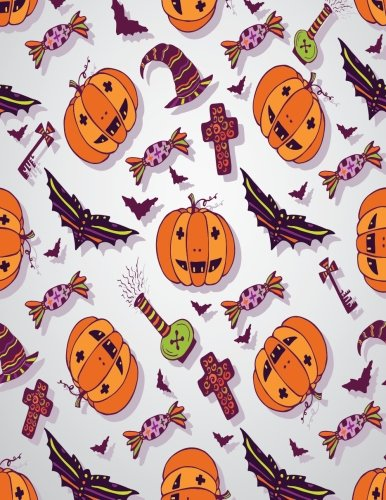 Sketch book: Halloween cover (8.5 x 11)  inches 110 pages, Blank Unlined Paper for Sketching, Drawing , Whiting , Journaling & Doodling (Halloween ... (8.5 x 11) inches, 110 pages) (Volume 38) -