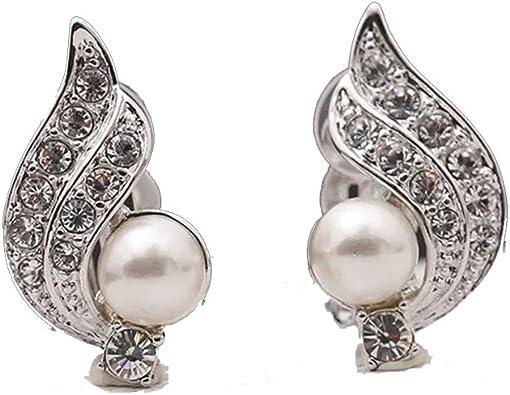 Boucles d/'oreilles argentées ange dans rond