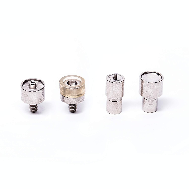 Aluminium Spindelpresse Druckknopfpresse Werkzeug+Druckknöpfe 10//12,5//15 mm