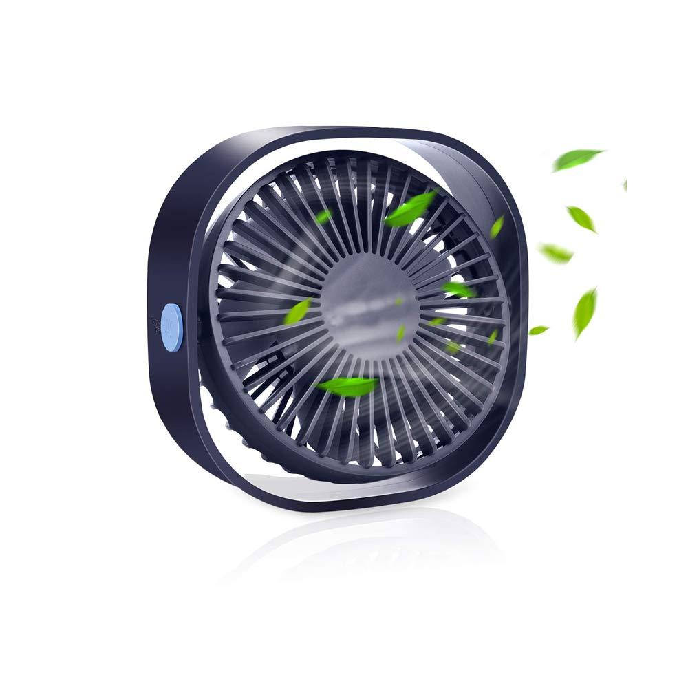 USBテーブルファン ポータブルミニパーソナルデスクファン 360度回転 調節可能な3速 オフィス 旅行   B07QJZ7XV4